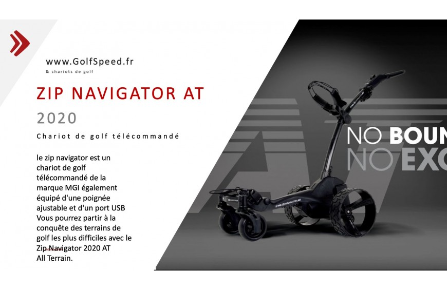 MGI chariot de golf télécommandé zip navigator AT - all terrain 2020