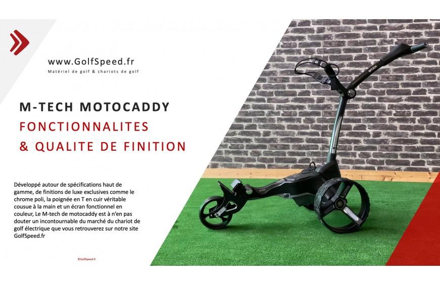 le chariot de golf M-TECH de motocaddy sur golfspeed.fr