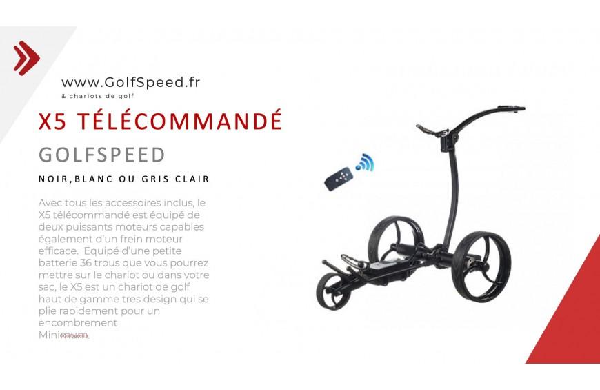 Le chariot de golf X5 GolfSpeed se dévoile en vidéo