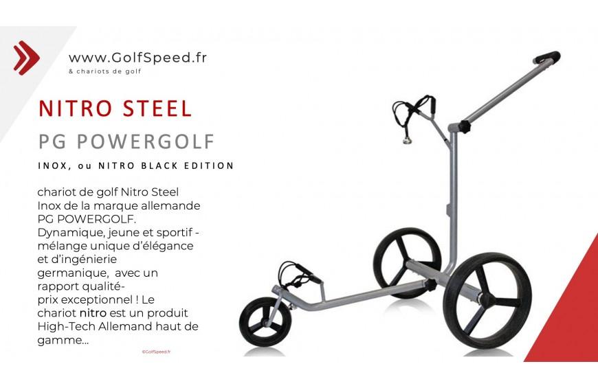 Les chariots de golf de la marque allemande PG POWERGOLF sur golfspeed.fr