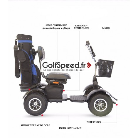 Voiturette de golf individuelle GolfSpeed GS-03