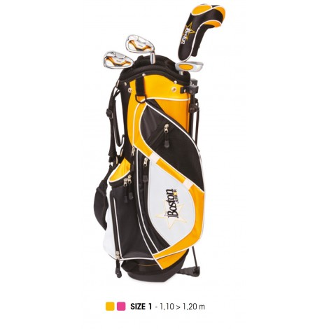 Pack Junior, Sac + Clubs Taille 1 (5 - 7 ans), Gaucher - BOSTON