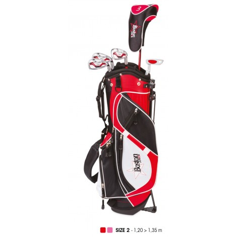 Pack Junior, Sac + Clubs Taille 2 (8 - 10 ans), Droitier - BOSTON