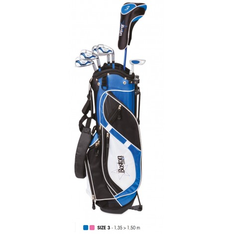 Pack Junior, Sac + Clubs Taille 3 (11 - 13 ans), Gaucher - BOSTON