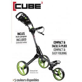 Chariot de golf manuel CUBE 3 roues - CUBE3