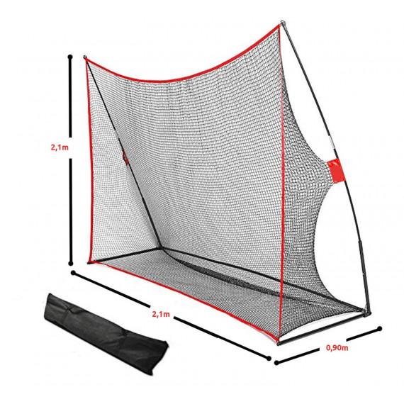 Filet portable et démontable pour golf indoor et simulateur