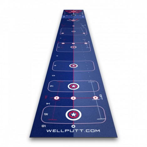 Tapis de putting wellputt mat 4 mètres, édition spéciale USA