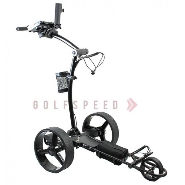 chariot de golf t l command x2 noir golfspeed. Black Bedroom Furniture Sets. Home Design Ideas