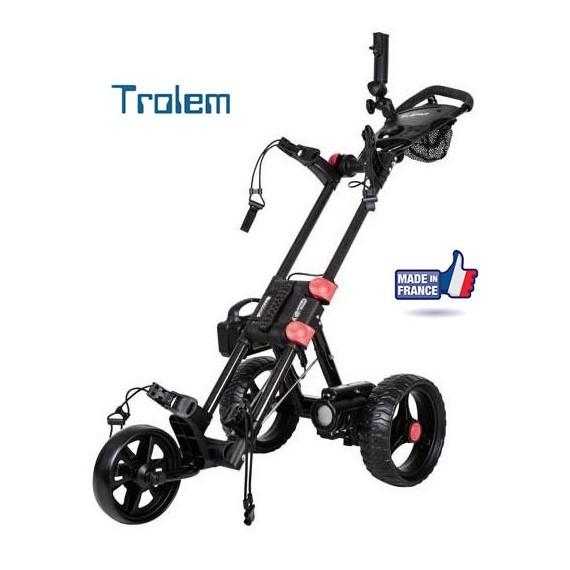 Chariot de golf électrique T4 Fold CARBONE 2RE (avec frein électronique) -  Trolem